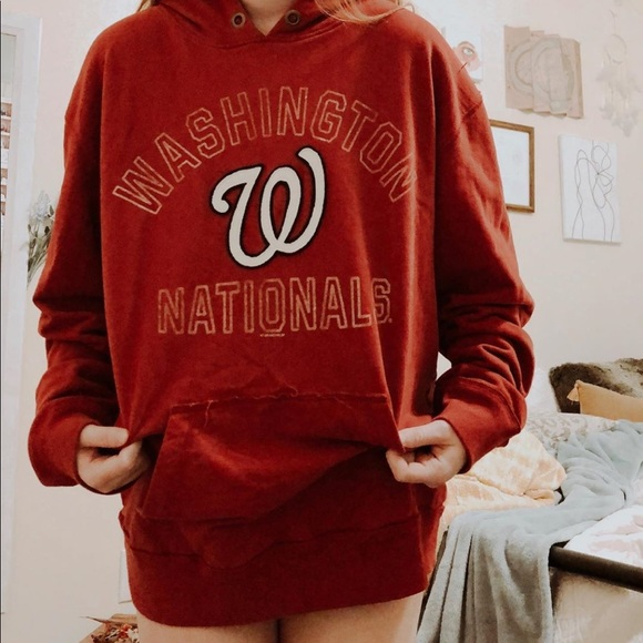 new product 30fc6 cf9d0 Washington Nationals Hoodie red 47 Brand